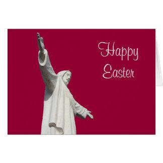 jesus easter red greeting card