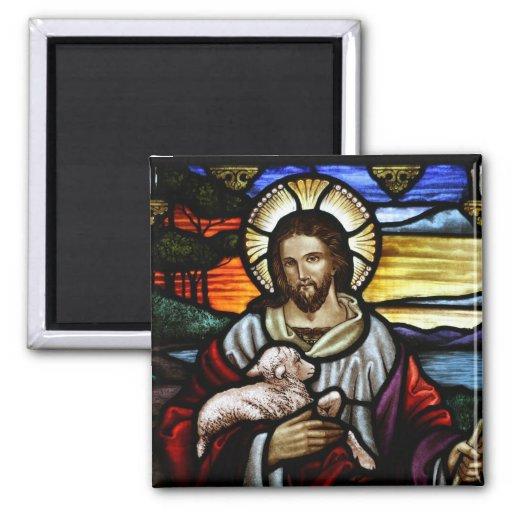 Jesús el buen imán del vitral del pastor