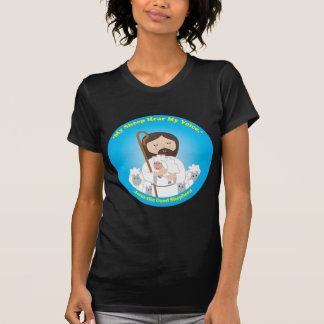 Jesús el buen pastor camisetas