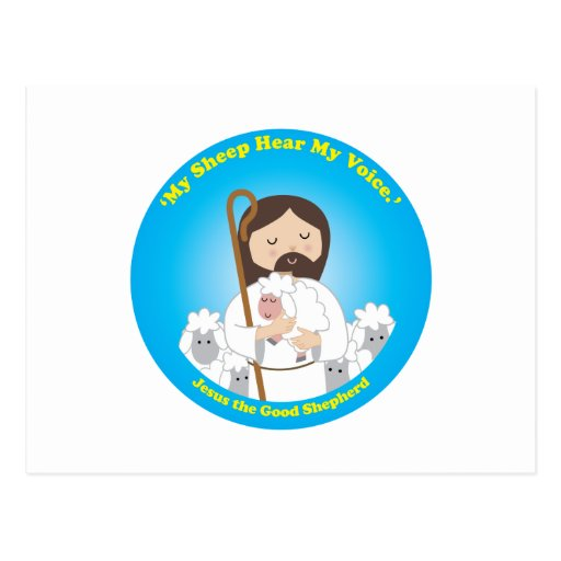 Jesús el buen pastor postal