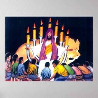 Jesús el león de la tribu de Judah Póster
