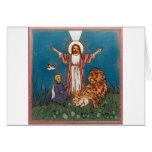 Jesús el león y el cordero felicitación