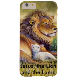 Jesús, el león y el cordero funda de iPhone 6 plus barely there