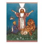 Jesús el león y el cordero membretes personalizados