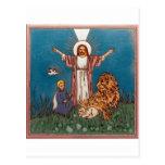Jesús el león y el cordero tarjetas postales