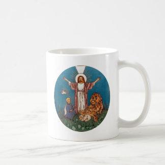Jesús el león y el cordero tazas