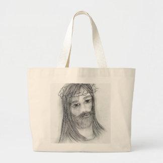 Jesús en agonía bolsa tela grande