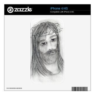 Jesús en agonía calcomanías para iPhone 4S