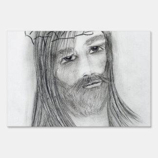 Jesús en agonía letreros