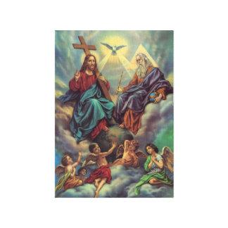 Jesús en cielo impresiones en lona estiradas