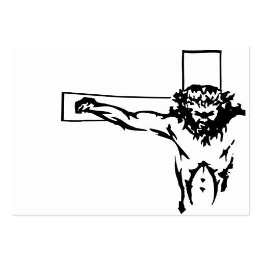 Jesús en cruz tarjetas de visita grandes