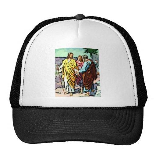 Jesús en el camino a Emmaus Gorras De Camionero