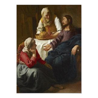 """Jesús en el hogar de Maria y de Martha Invitación 5.5"""" X 7.5"""""""