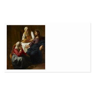 Jesús en el hogar de Maria y de Martha Tarjetas De Visita