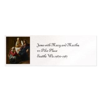 Jesús en el hogar de Maria y de Martha Tarjetas De Visita Mini