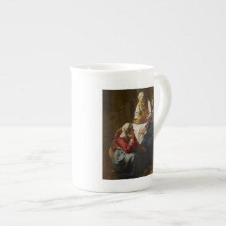Jesús en el hogar de Maria y de Martha Taza De Porcelana