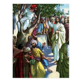 Jesús en el hogar de Zaccheus Postales