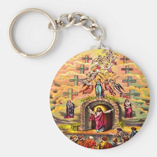Jesús en el llavero de la puerta del cielo