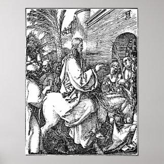 Jesús en la aguafuerte de Domingo de Ramos del bur Posters