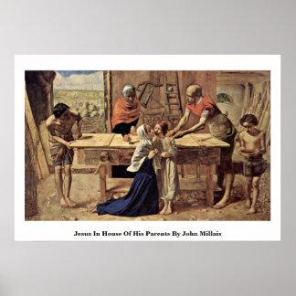 Jesús en la casa de sus padres de Juan Millais Poster