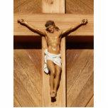 Jesús en la cruz escultura fotografica