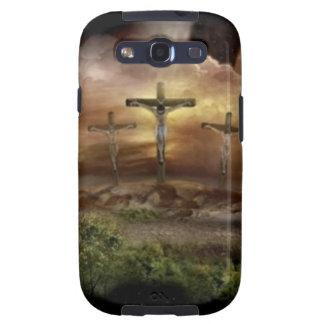 JESÚS EN LA CRUZ GALAXY S3 FUNDAS
