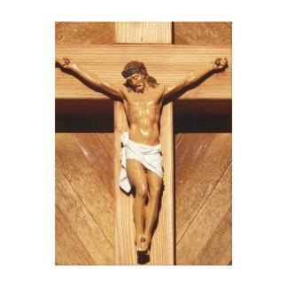 Jesús en la cruz lienzo envuelto para galerias