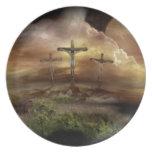 JESÚS EN LA CRUZ PLATOS DE COMIDAS