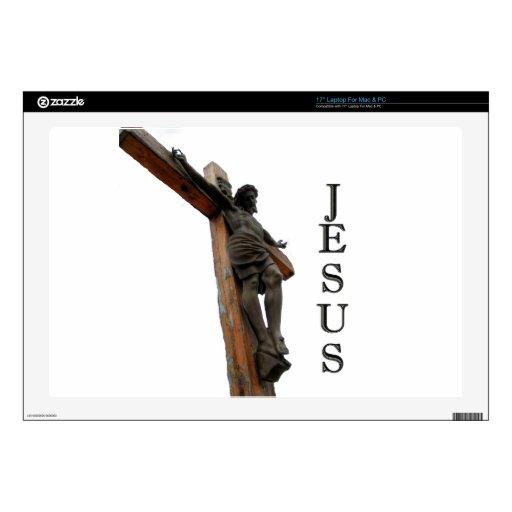 Jesús en la cruz portátil skin