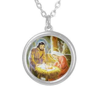 Jesús en la natividad del navidad del pesebre colgantes personalizados