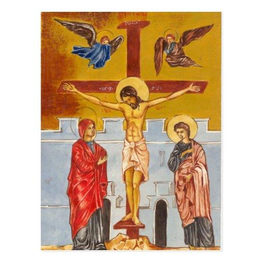 Jesús en la postal cruzada