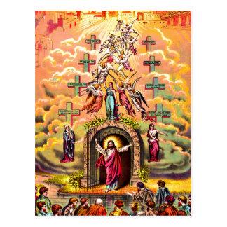 Jesús en la postal de la puerta del cielo