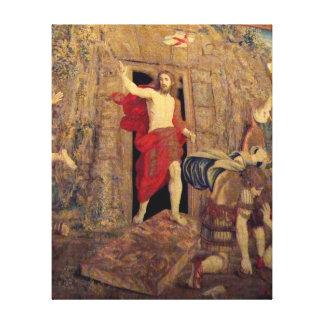 Jesús en la tapicería de la resurrección en el Vat Impresion En Lona