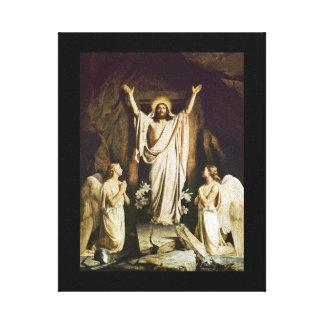 Jesús en la tumba abierta impresiones de lienzo