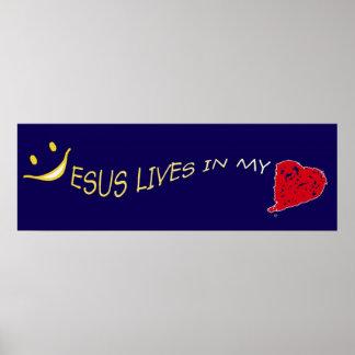 Jesús en mi colección del poster del corazón