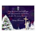 Jesús en nieve tarjetas postales