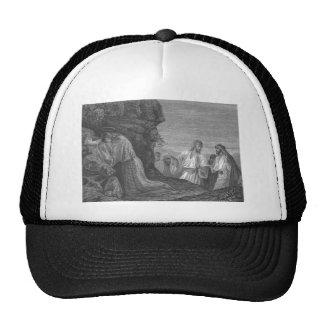 Jesús en rezo circa 1874 gorros bordados