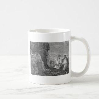 Jesús en rezo circa 1874 tazas de café