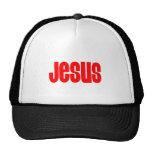 Jesús en rojo gorros bordados
