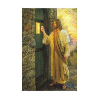 Jesús en su lona envuelta puerta impresiones en lienzo estiradas