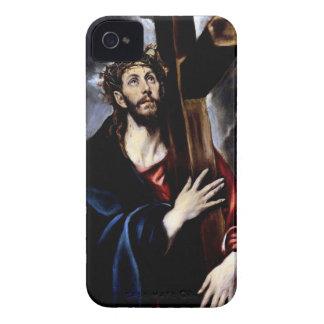 Jesús en su manera al Calvary Case-Mate iPhone 4 Fundas