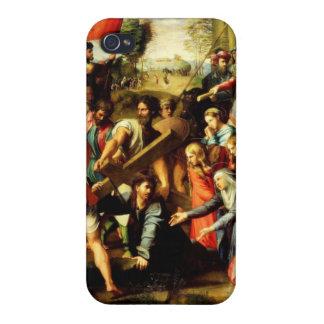 Jesús en su manera al Calvary iPhone 4/4S Fundas