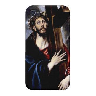 Jesús en su manera al Calvary iPhone 4 Cárcasa
