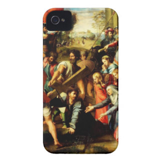 Jesús en su manera al Calvary iPhone 4 Protectores