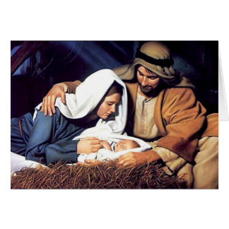 Jesús en tarjeta del pesebre