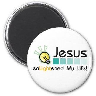 Jesus Enlightened My Life Magnet