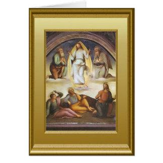 Jesús enthroned en cielo tarjeta de felicitación