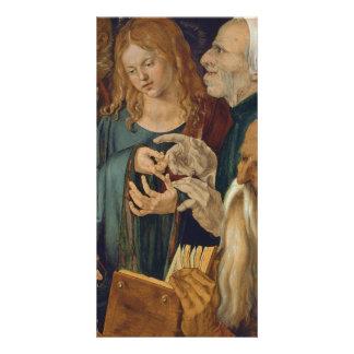 Jesús entre los doctores de Albrecht Durer Tarjeta Con Foto Personalizada