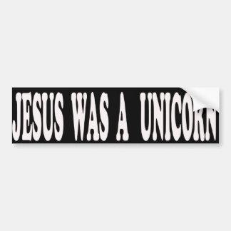 Jesús era pegatina para el parachoques del unicorn pegatina para auto