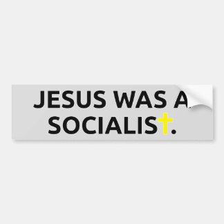 Jesús era un socialista etiqueta de parachoque